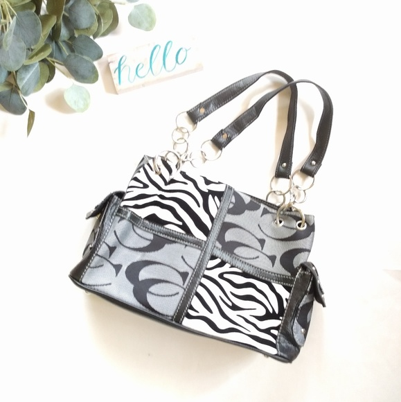 no brand Handbags - Black zebra print shoulder bag